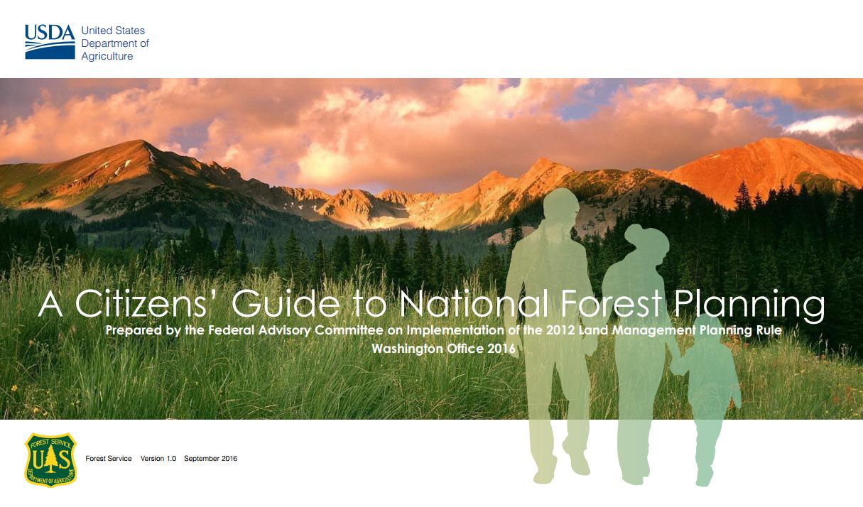A Citizens' Guide to National Forest Planning Cover image
