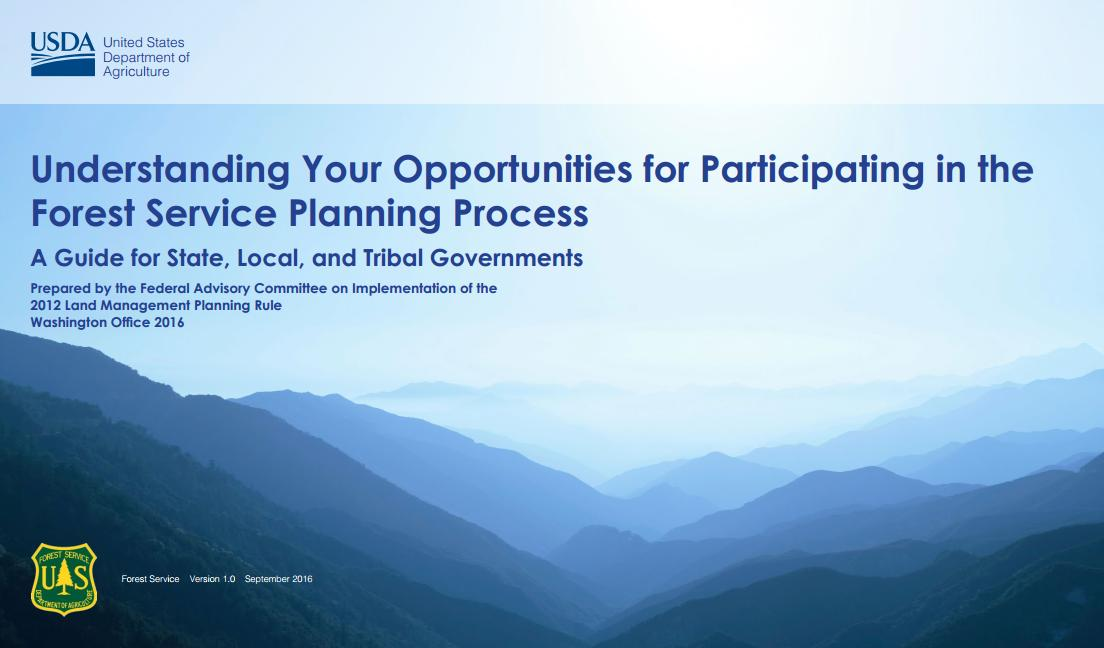 Understanding Your Opportunities for Participating in the Forest Service Planning Process Cover image